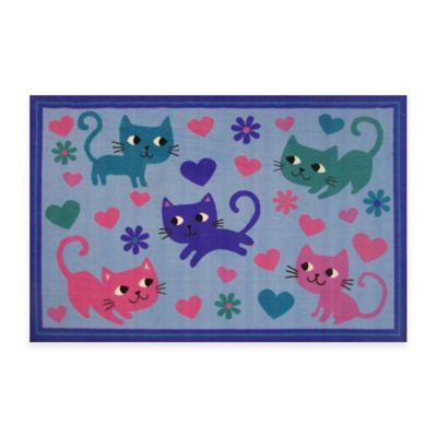 Fun Rugs™ Kitty Cats 3-Foot 3-Inch x 4-Foot 10-Inch Accent Rug