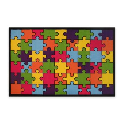 Fun Rugs™ Jigsaw Puzzle 4-Foot 3-Inch x 6-Foot 6-Inch Area Rug