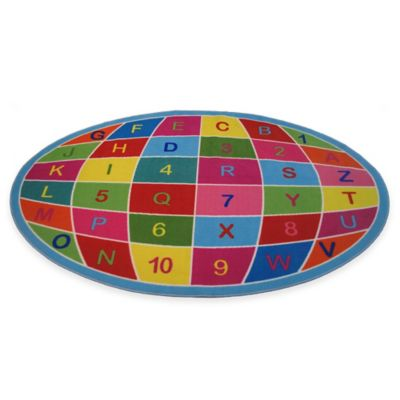 Fun Rugs™ Alphanumeric Globe 6-Foot 8-Inch x 10-Foot Area Rug