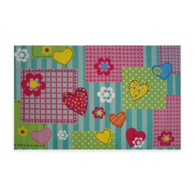 Fun Rugs™ Hearts & Flowers 3-Foot 3-Inch x 4-Foot 10-Inch Accent Rug