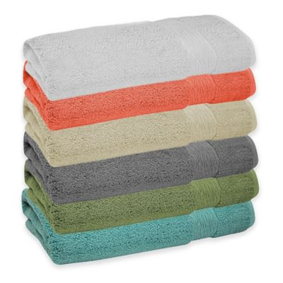 Jessica Simpson Signature Bath Towel in Shale Green (Set of 2)