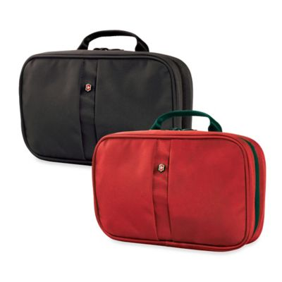 Victorinox 3-Section Toiletry Case in Red