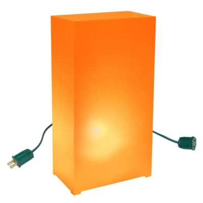 Electric Luminaria Kit in Orange (Set of 10)