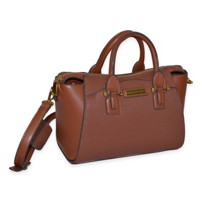Adrienne Vittadini Basket Weave Business Tote in Natural