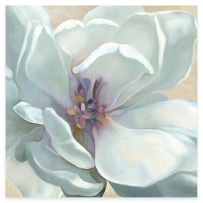 White Floral Canvas Art Wieco Art Red And White
