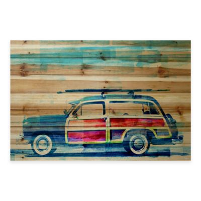 Surf Day 36-Inch x 24-Inch Wood Wall Art