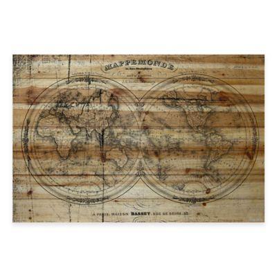 Parvez Taj Mappe 36-Inch x 24-Inch Wood Wall Art
