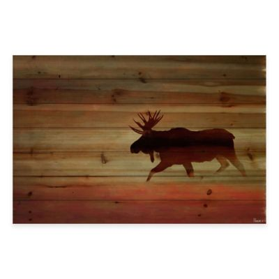 Moosehead 36-Inch x 24-Inch Wood Wall Art