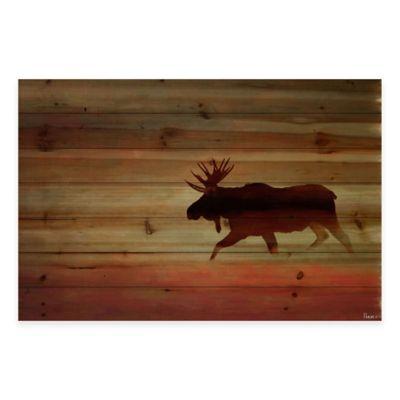 Moosehead 45-Inch x 30-Inch Wood Wall Art