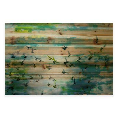 Parvez Taj Acadia Street 45-Inch x 30-Inch Pine Wood Wall Art