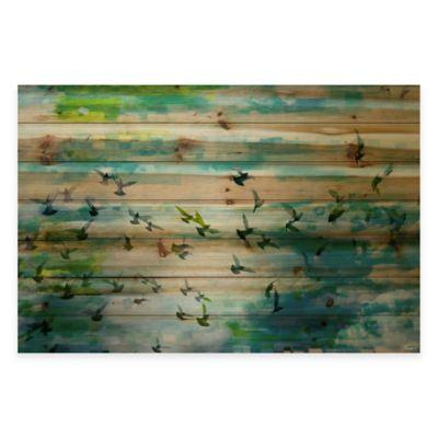 Parvez Taj Acadia Street 60-Inch x 40-Inch Pine Wood Wall Art