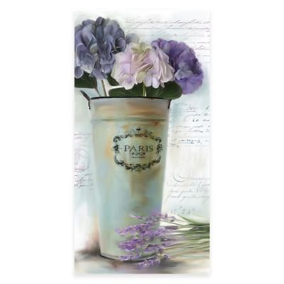 Lavender Vintage Floral II Canvas Wall Art
