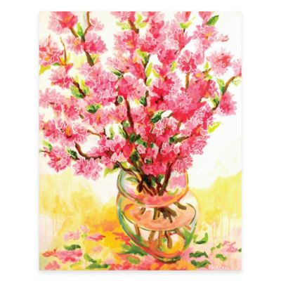 Fresh Pink Vase Canvas Wall Art