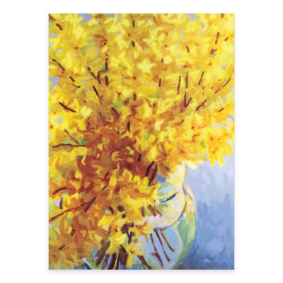 Fresh Yellow Vase Canvas Wall Art