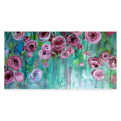 Hanging Rose II Floral Canvas Wall Art