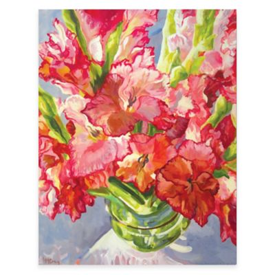 Gladiola Vase Floral Canvas Wall Art