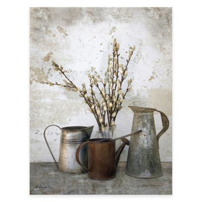 Three Watering Cans Canvas Wall Art
