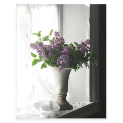 Purple Flower Vase Canvas Wall Art
