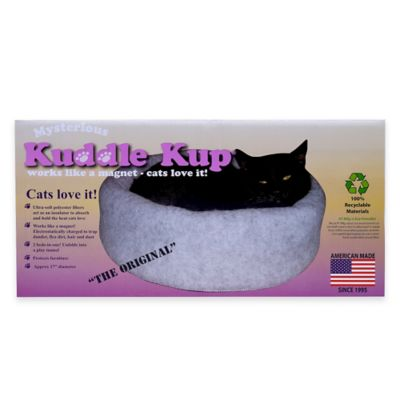 Mysterious Kitty Kup® Cat Bed in Charcoal