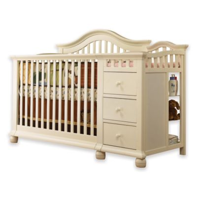 Sorelle Cape Cod 4-in-1 Crib and Changer in French White