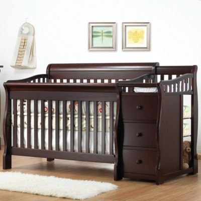 Sorelle Tuscany 4-in-1 Convertible Crib and Changer in Espresso