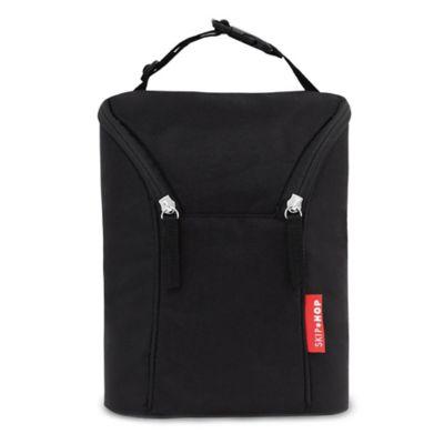 SKIP*HOP® Grab & Go Double Bottle Bag in Black