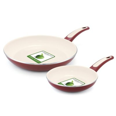 GreenPan™ Focus 2-Piece Nonstick Fry Pan Set in Burgundy