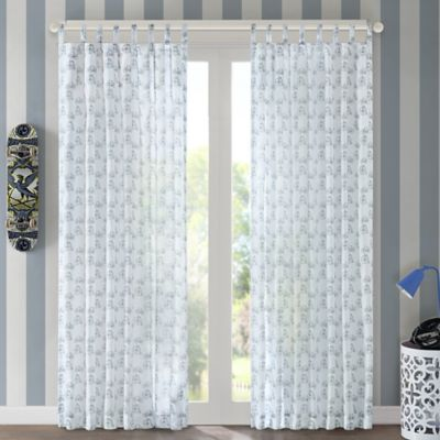 Regency Heights Bicycle 63-Inch Tab Top Window Curtain Panel