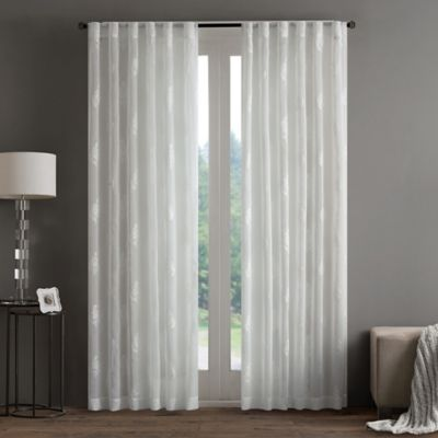 Regency Heights Aria Stamp Sheer 63-Inch Rod Pocket Window Curtain Panel in White