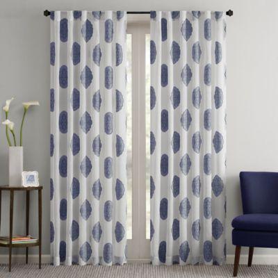 Regency Heights Perry 84-Inch Sheer Rod Pocket Window Curtain Panel in Indigo