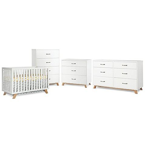 Child craft soho nursery furniture collection in white for Child craft soho crib natural