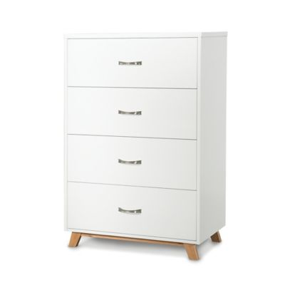Child Craft™ SOHO 4-Drawer Chest in White/Natural