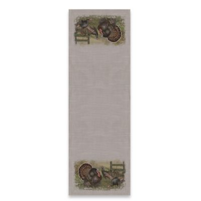 Heritage Lace® Wild Turkey 48-Inch Table Runner in Gray