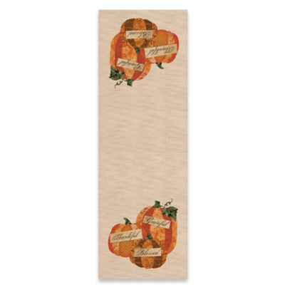 Heritage Lace® Patchwork Pumpkin 48-Inch Table Runner