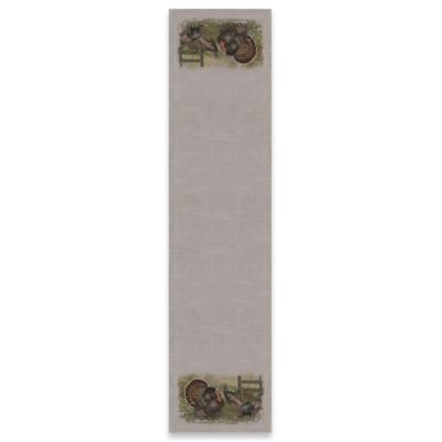 Heritage Lace® Wild Turkey 60-Inch Table Runner in Gray