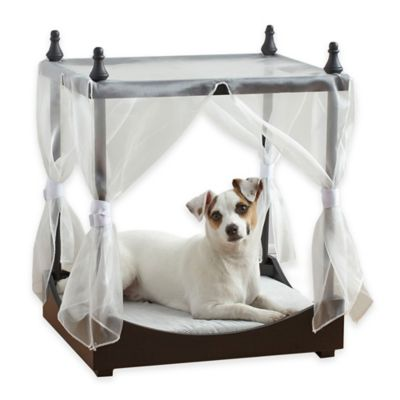 Pet Canopy Bed in BLACK