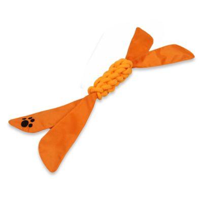 Extreme Twist Squeak Pet Rope Toy in Orange