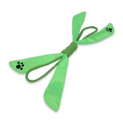 Extreme Bow Squeak Pet Rope Toy in Green