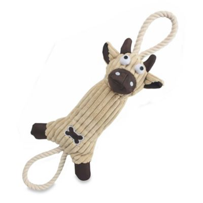Jute and Rope Plush Cow Pet Toy