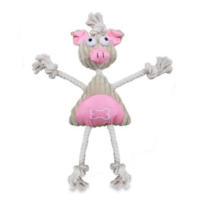 Jute And Rope Plush Pig Mannequin Pet Toy