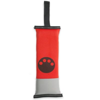 Active-Life Neoprene Floating Tug Chew Dog Toy in Red/Black