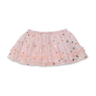 Baby Starters® Size 12M Tossed Stars Tutu Skirt in Rose/Gold