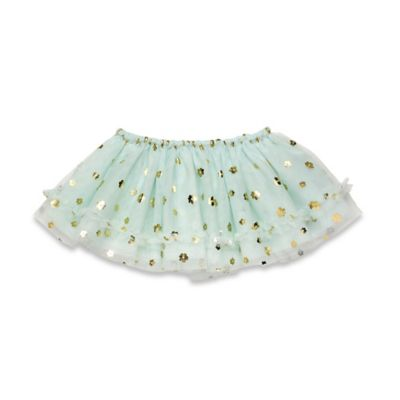 Baby Starters® Tossed Flowers Tutu Skirt in Mint/Gold
