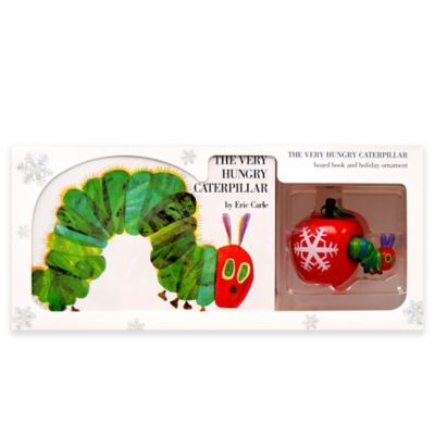 2-Piece The Very Hungry Caterpillar Board Book by Eric Carle and Holiday Ornament Gift Set
