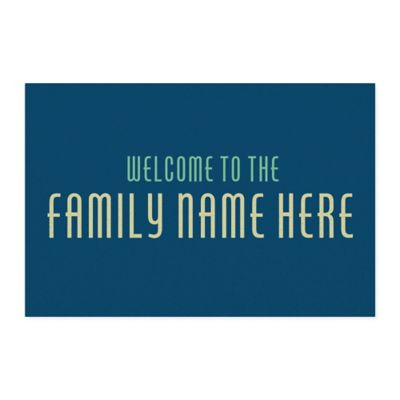 Dobby Name 4-Foot X 6-Foot Area Rug