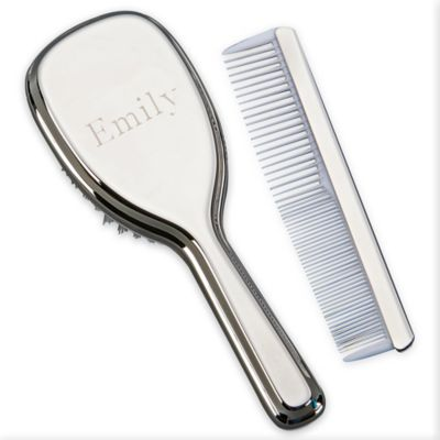 Silver Brush and Comb Set