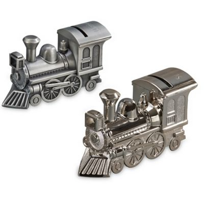 Train Bank in Pewter