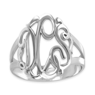 Alison & Ivy® Sterling Silver Size 5 Ladies' Script Ring