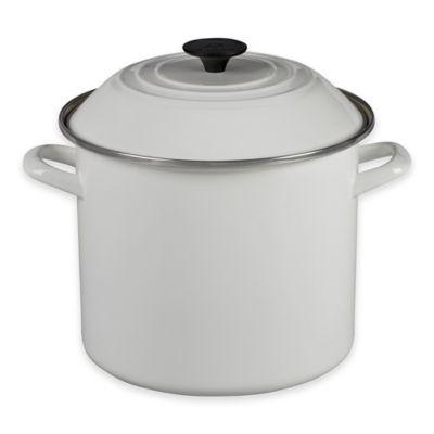 Le Creuset® 10 qt. Stock Pot in White