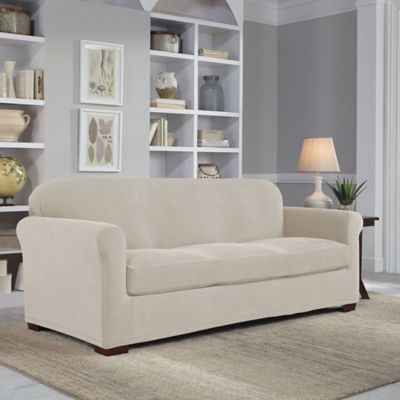 Easy Fit 2-Piece Sofa Slipcover in Grey